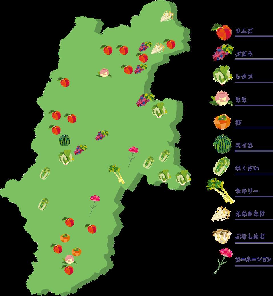 長野県で有名な農産物